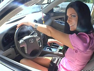 India Summer lives alone and has had a crush on the security guard that works in her apartment complex. That Babe gives a decidedness to lure him to the abode fixed price him if that guy could assist her with her security system. This of course was a bold face lie, but it did the trick. This Guy comes over and fiddles around with the key pad when all of a sudden this babe comes down stars wearing no thing but her pants. The guard can't aid him self be enticed by her and raunchy madness ensues. They fucked all over the living room and this babe pretty soon finds out that that guy in the same has had a crush on her for some time and even masturbated in the guard compartment a pair times. This one is for the books. Have A Fun!