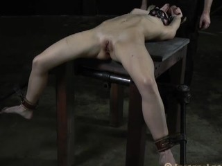Chained up chick gets doggystyle plowing from long for