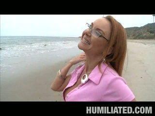 Sexy milf was eager to have sexual humiliation fantasy fulfilled