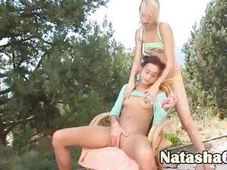 Natasha & Alice sharing sex-toys