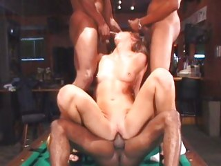 Saucy Ashley Moore gets pounded by these hard dicks