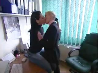 Various hot clips of sexy lesbians babes in sensual giving a kiss