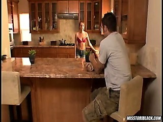 Tori Darksome fucked in kitchen